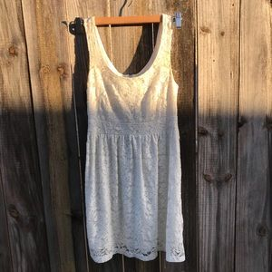 Wet Seal White Lace Dress